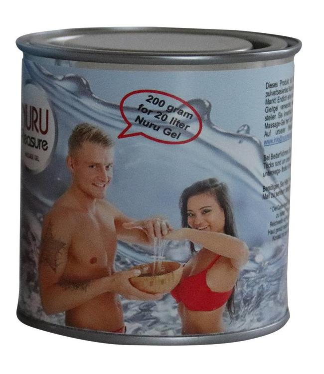 Nuru Massage Gels van Nuru Nederland For large users Nuru Pleasure Powder good for 20, 40, 60 or 100 liters of Nuru Gel