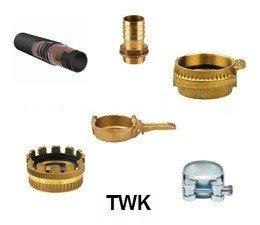 """KO111034 - Slangenset 4"""" Zuig / persslang - vuil water Ohms rubber 5mtr. 4"""" TWK mandeel - 4"""" TWK vrouwdeel"""