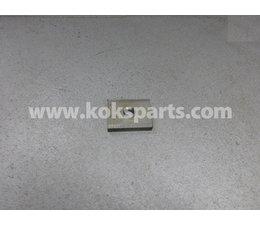 KO105351 - Borgplaatje t.b.v. JC kogelkraan. Afmeting: 50x40x8mm. Gat: 12mm
