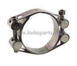 KO107129 - Slangklem 2-delig. Maat: 30mm. t.b.v. diameter: 149-161mm. Bout: M10