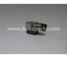 KO100887 - Stekker 22mm. incl. LED en Varistor