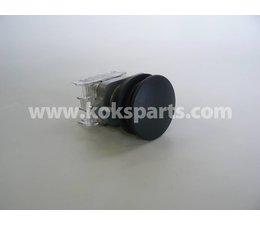 KO100188 - Drukknop putbuiskast. Kleur: Zwart