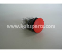 KO100187 - Drukknop putbuiskast. Rood