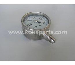 """KO100166 - Manometer. Afleesbereik: -1/1,5 bar. Aansluiting: 1/2"""" onder aansluiting"""