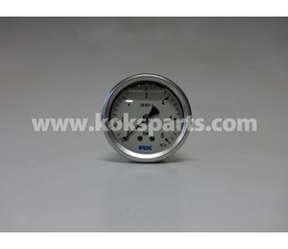 "KO100099 - Manometer. Afleesbereik: 0/6 bar. Aansluiting: 1/4"" onder aansluiting + sleepnaald"