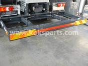 Hydraulically hinged bumpers