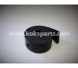 KO102342 - Pakking t.b.v. vloeistof deksel. Afmeting: 900x80x5mm. 22x gat 17mm