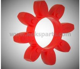 KO102906 - Rotex koppeling rubber tandring t.b.v. Compressor + HP-pomp. Type: NM28 98 shore