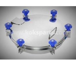KO102514 - Mangat deksel middeldruk. Diameter 404mm. Type: 6V251 RVS 304. 6 Sluitingen