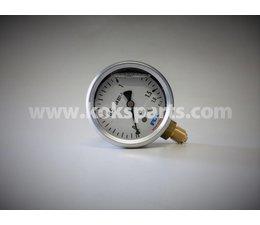 """KO102124 - Manometer. Afleesbereik: 0/1,6 bar. Aansluiting: 1/4"""" onder aansluiting"""