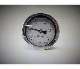 "KO101524 - Manometer. Afleesbereik: 0/1.6 bar. Aansluiting: 1/4"" achter aansluiting"