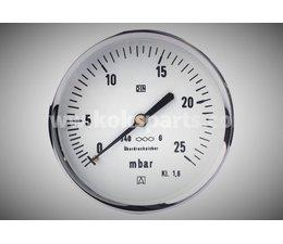 "KO102038 - Manometer 0/25 bar. 1/2"", OA, 100mm."