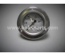 "KO100425 - Manometer. Afleesbereik: 0/250 bar. Aansluiting: 1/4"" achter aansluiting"