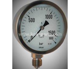 "KO102040 - Manometer 0/1600 bar. 1/2"", OA ,100mm."