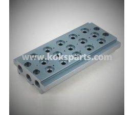 "KO105512 - Manifold t.b.v. 5 pneumatiek ventielen. Aansluiting: 1/8"""