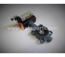 KO105734 - Vlinderklep DN50. Type: ZO11A incl. Actuator KO103068 en ventiel KO105728