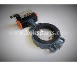 KO105735 - Vlinderklep. Type: DN125 ZO11A incl. Actuator KO103074 en Namur ventiel KO105728