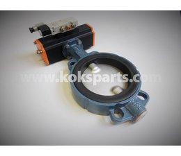 KO105736 - Vlinderklep. Type: DN150 ZO11A incl. Actuator KO103080 en Namur ventiel KO105728