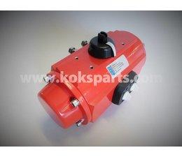 KO100904 - Aktuator vor KO100010. Typ: PA10. Größe: VK. 17