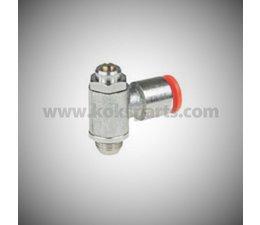 """KO100213 - Snelheidsregelaar voor pneum. cilinder. Aansluiting 1/4"""""""
