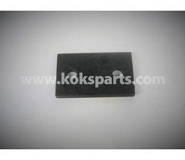 KO100845 - Isolatieplaatje t.b.v aardhaspel. Materiaal: HMPE (Zwart)