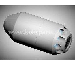 KO110091 - ENZ Granaat 1'' Klein model. Gewicht: 4,9kg. Diameter: 120-300