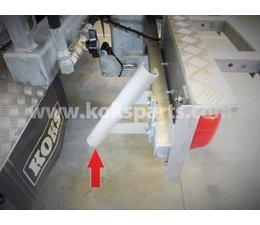 KO108605 - Spuitpistoolhouder t.b.v. 200bar spuitpistool. Materiaal: RVS304
