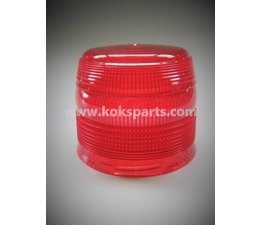 KO100229 - Zwaailampglas. Kleur: Rood LED