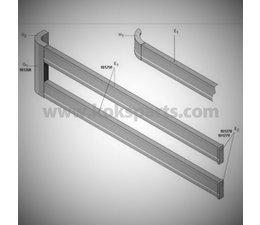 KO101083 - Zij-afscherming plankprofiel. Lengte: 6mtr.