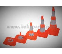 KO110926 - Opvouwbare pilonnen =(750mm), v.v LED, reflectiestrepen