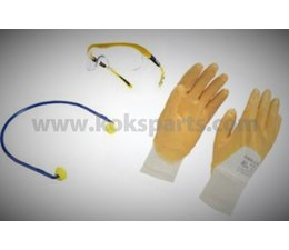 KO110927 - Persoonlijk beschermingspakket , bril, gehoorbescherming en handschoenen