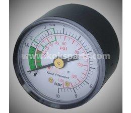 KO105248 - Vuil indicator t.b.v. HF filterhuis. Druk 0-10 Bar