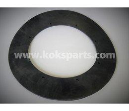 KO100089 - Vlakke leidingdeling. Afmeting: 405x250x10mm. 8x gaten 10mm.