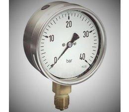 """KO100039 - Buisveer- manometer. Afleesbereik: -1/0 bar. Aansluiting: 1/2"""" onder aansluiting"""