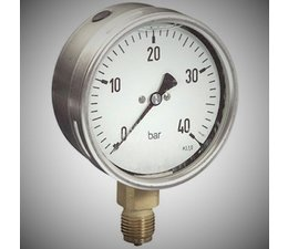 """KO100039 - Manometer. Lesereichweite: -1/0 Bar. Anschluss: 1/2"""" unterer Anschluss."""