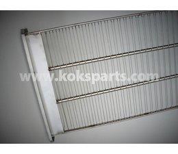 KO100713 - Filterrek Staal, 465x1240mm.
