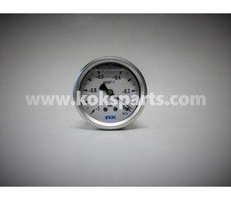 """KO100100 - Manometer. Afleesbereik: -1/0 Bar. Aansluiting: 1/4"""" onder aansluiting"""