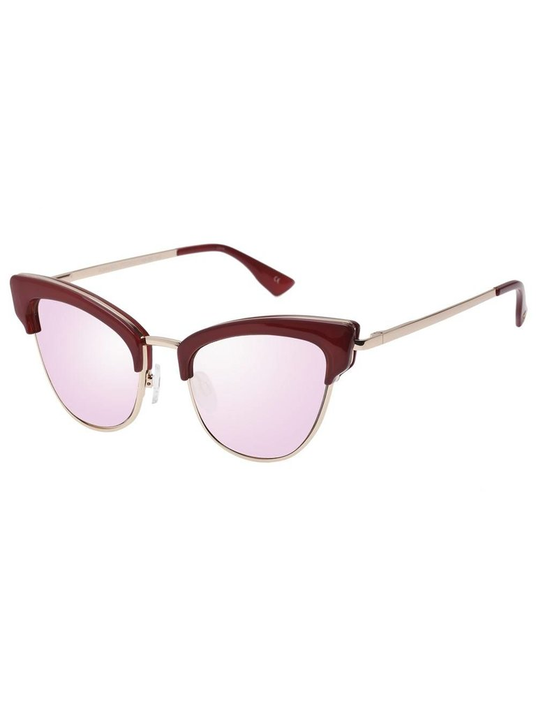 Le Specs Luxe Le Specs Luxe Ashanti zonnebril garnet rose