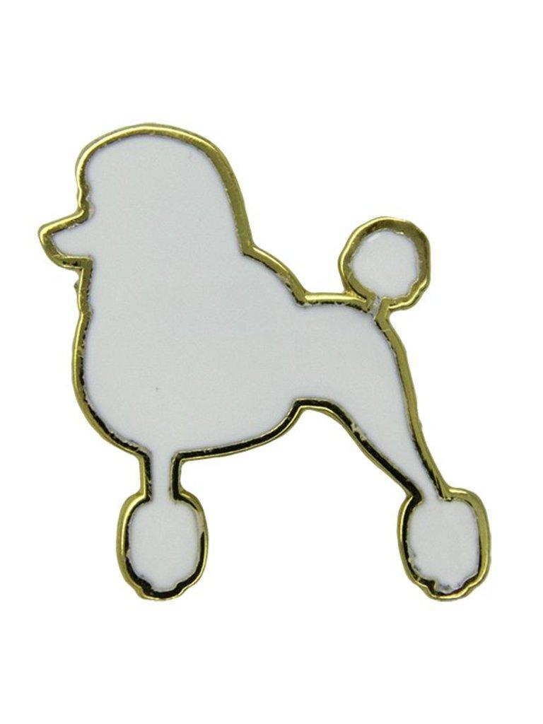 Godert.Me Godert.me Parisian Poodle Pin Weiß gold