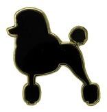 Godert.Me Godert.me Parisian Poodle pin zwart goud