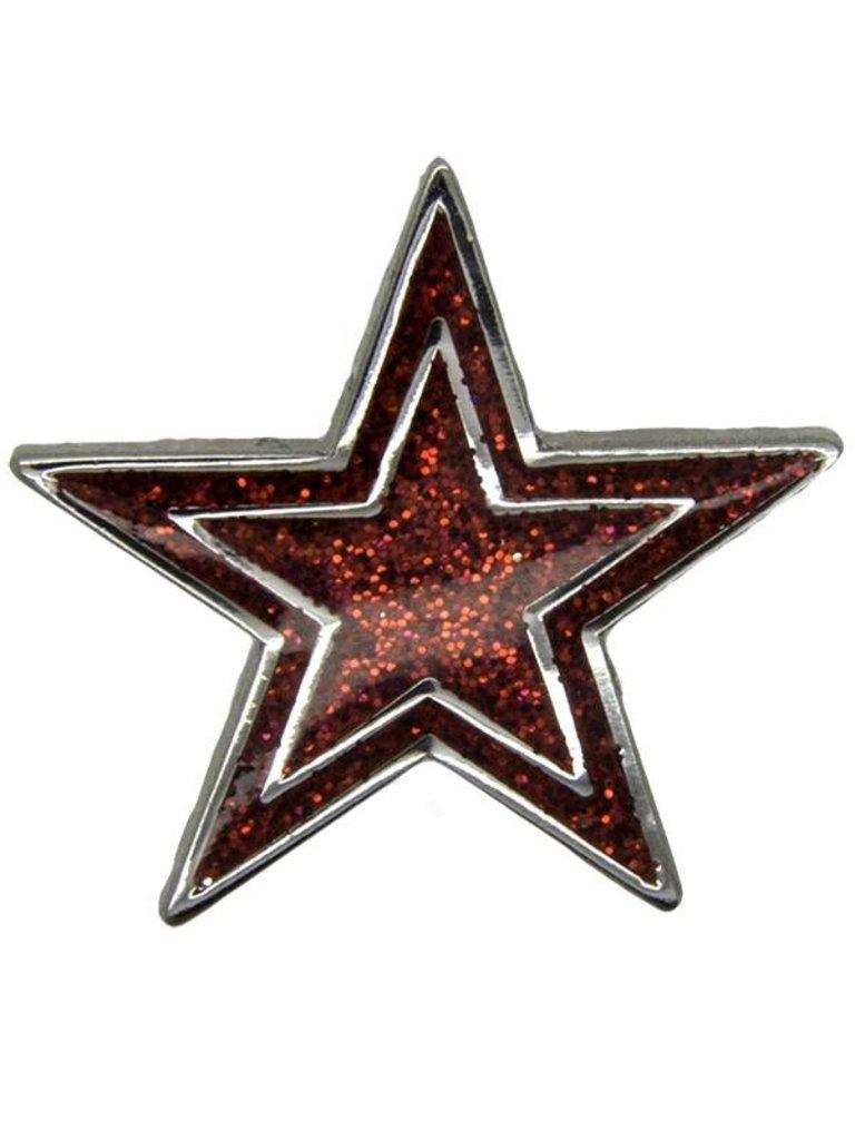 Godert.Me Godert.me Star pin rood zilver