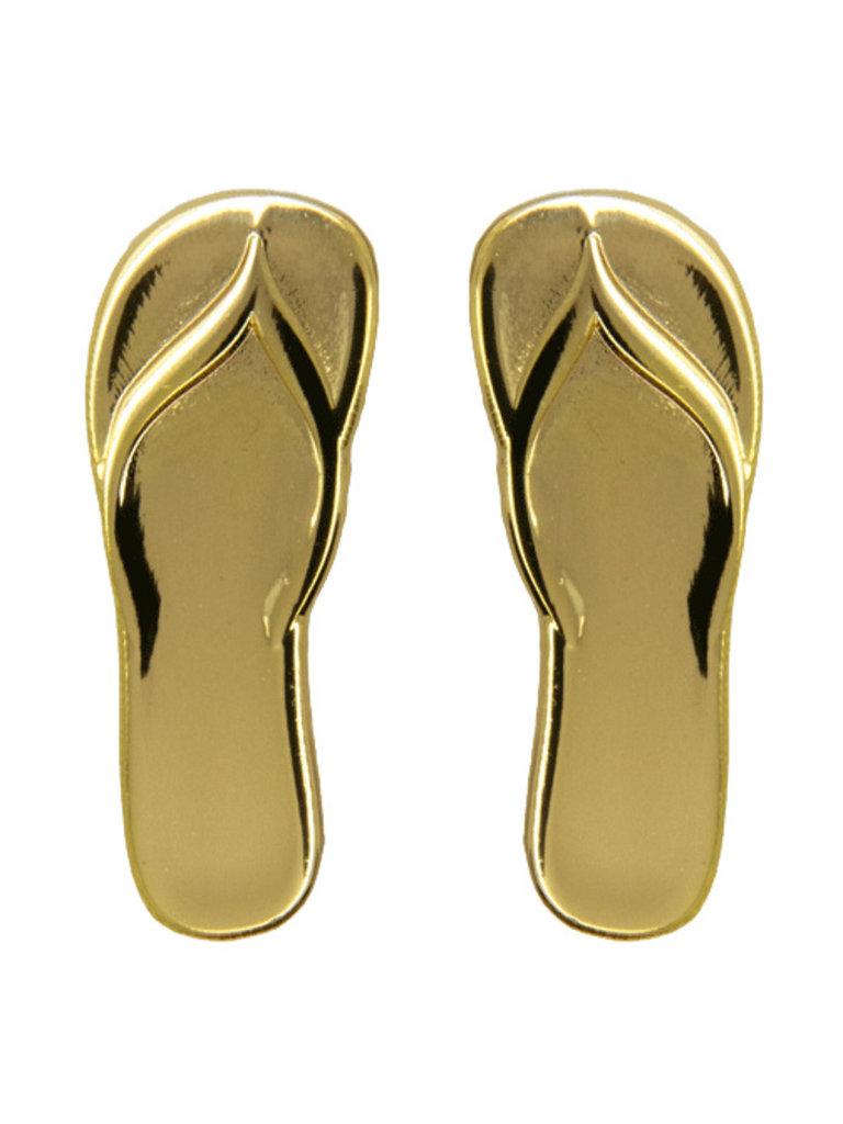 Godert.Me Godert.me Flip flop slippers pin goud