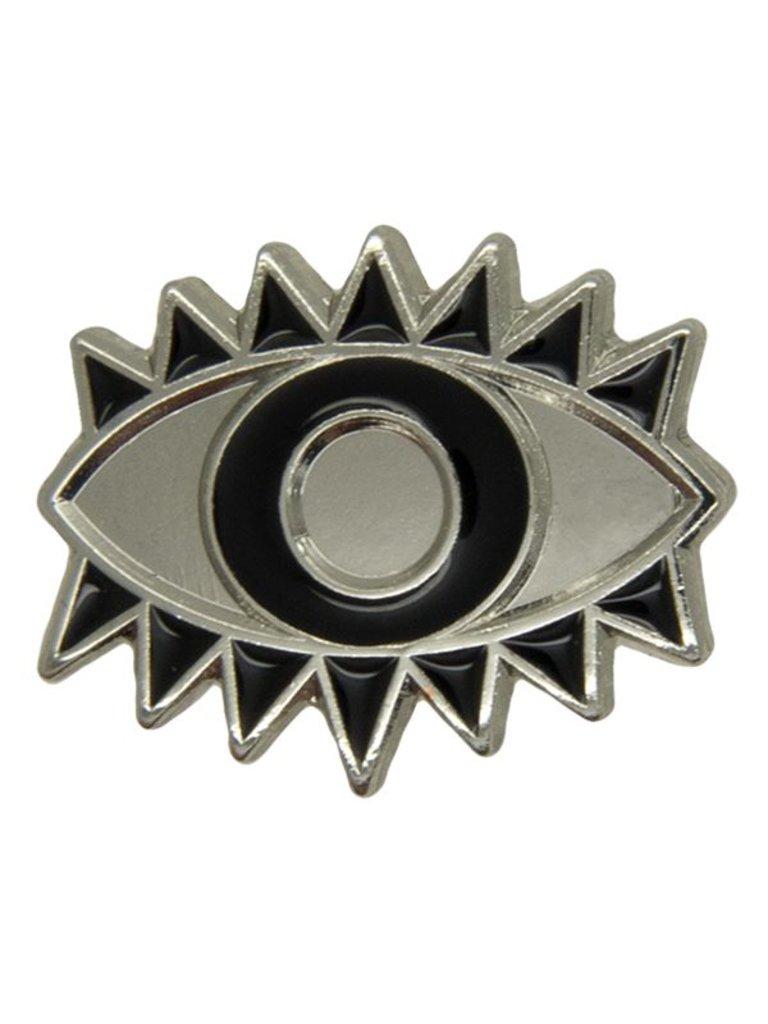 Godert.Me Godert.me Lucky eye pin zilver zwart
