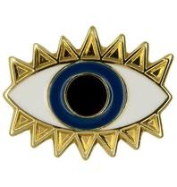 Godert.Me Godert.me Lucky eye pin gold blue