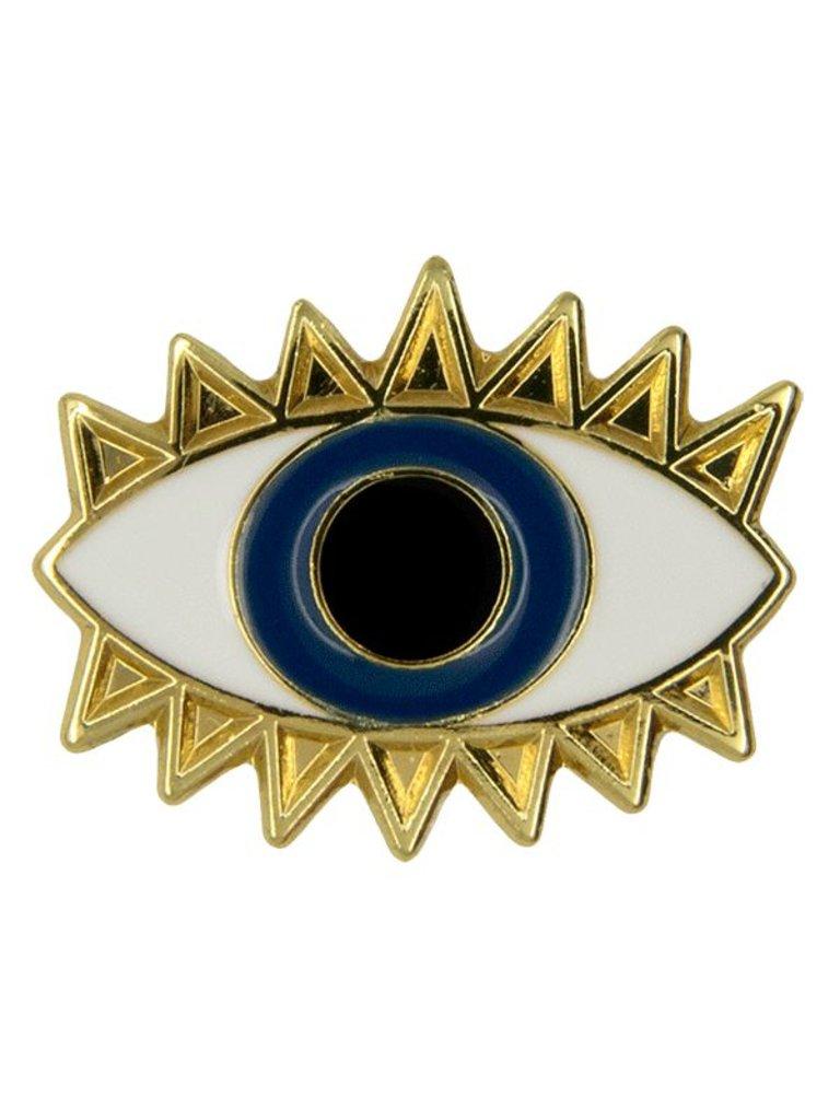 Godert.Me Godert.me Lucky eye Pin Gold blau