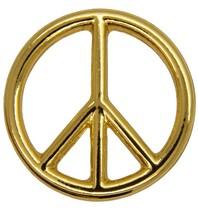 Godert.Me Godert.me Peace sign golden pin