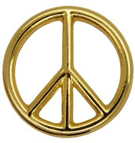 Godert.Me Godert.me Peace sign pin goud