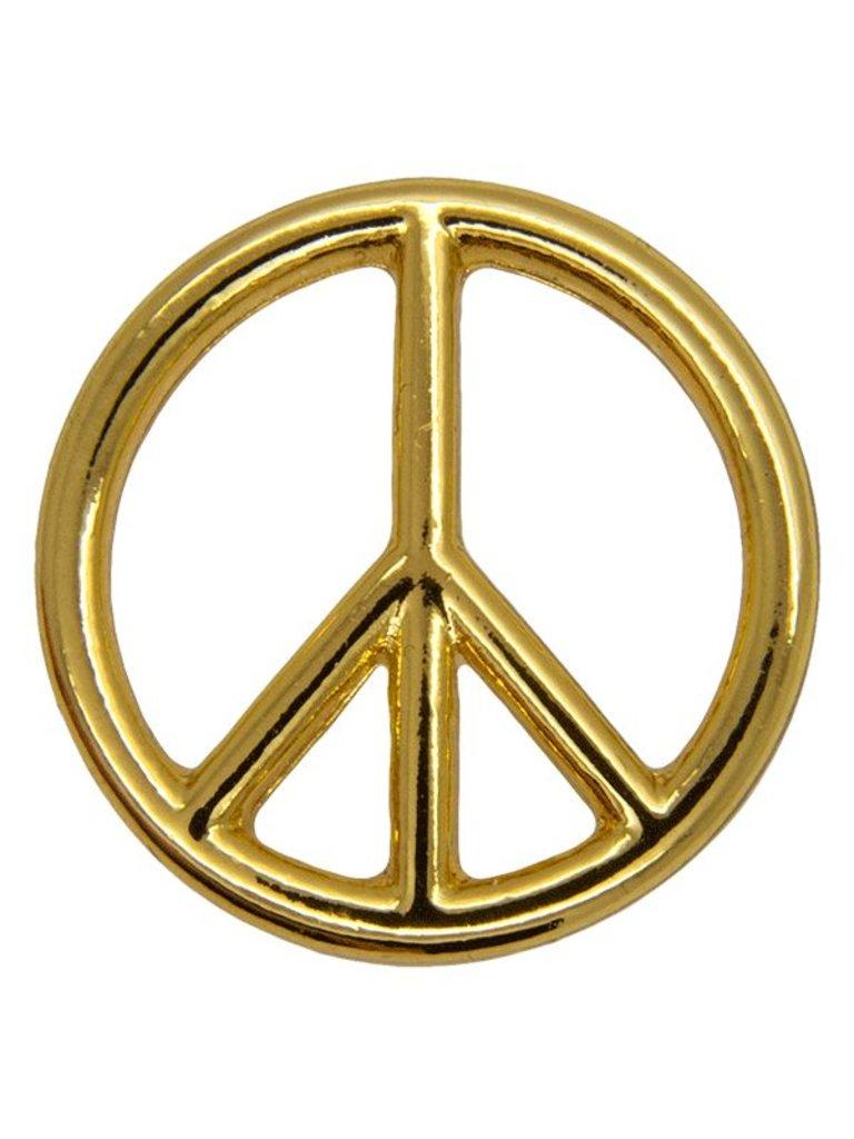 Godert.Me Godert.me Peace sign pin goud