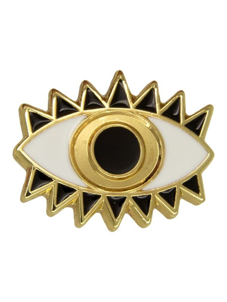 Godert.Me Godert.me Lucky eye pin gold white