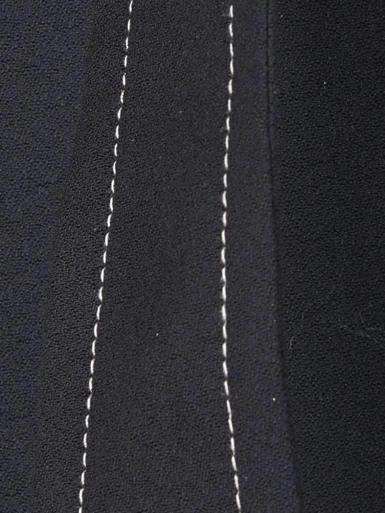 Áeron Cropped flair broek met riem zwart